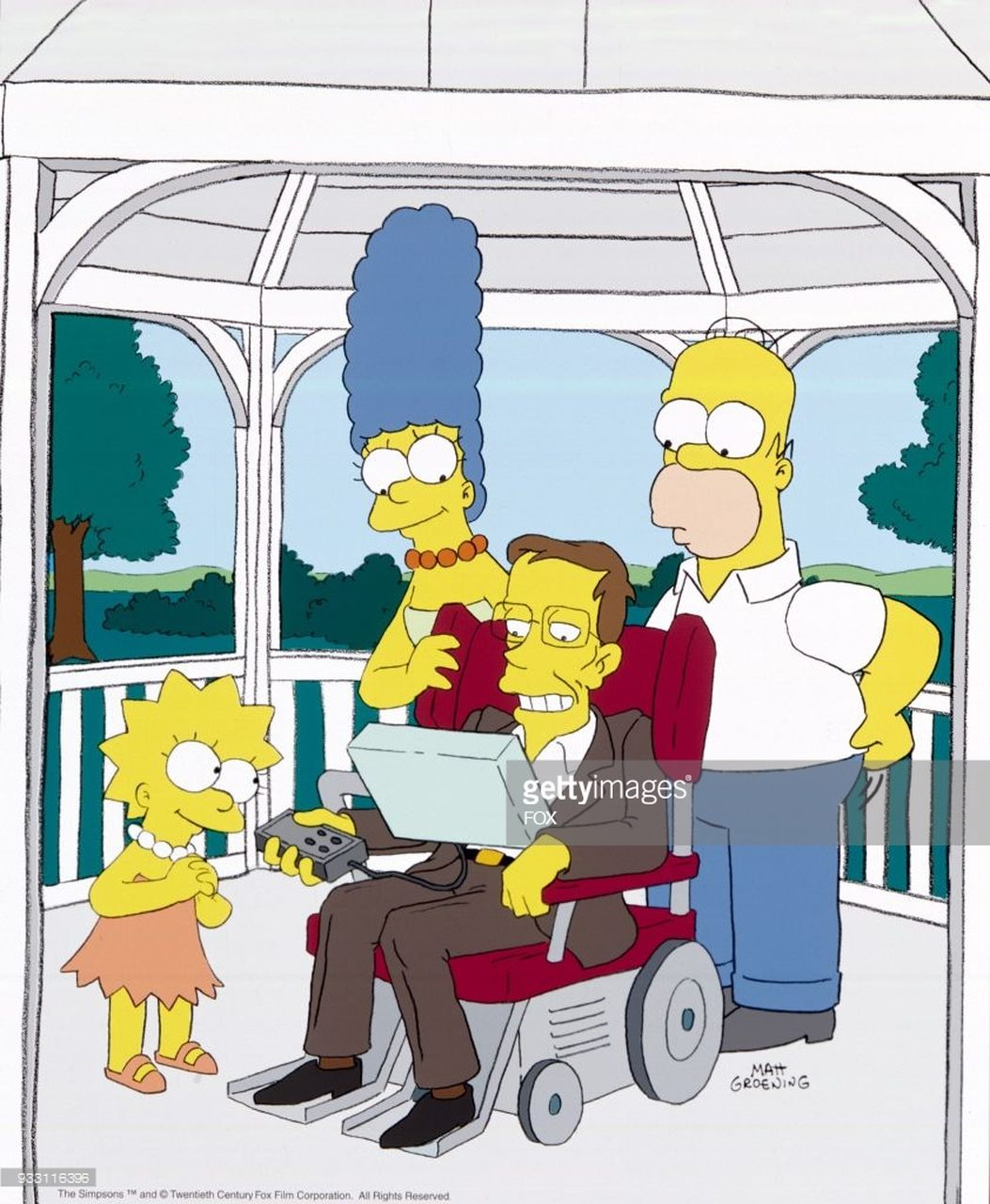 O físico Stephen Hawking no Os Simpsons