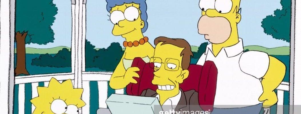 O físico Stephen Hawking no Os Simpsons
