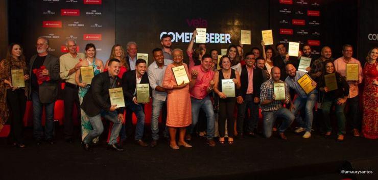 Premiados Veja Comer & Beber 2018/2019. Crédito: Amaury Santos