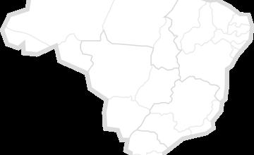 mapa do Brasil em branco