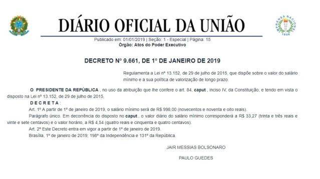 Decreto n9661_salariominimo
