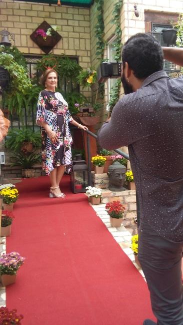 A jornalista Mariza Bazo também participou da intervenção de moda.